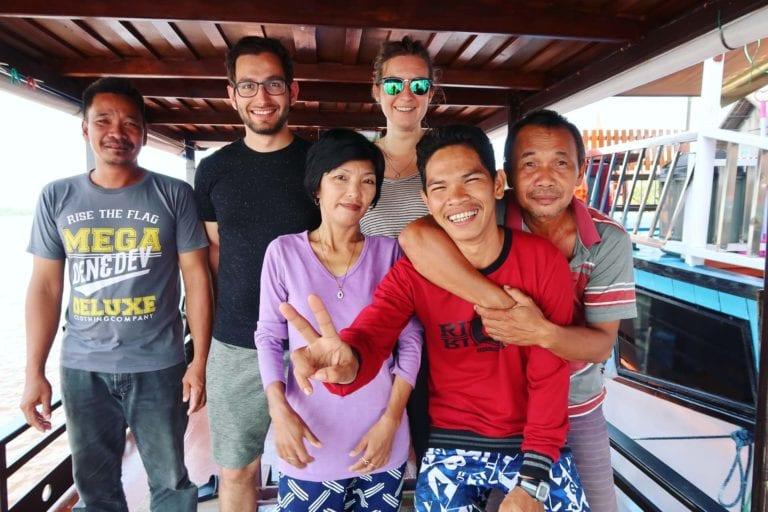Die Crew unserer Klotok-Tour